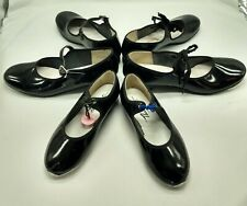 Black Patent Leather Tap Shoes Girls 9 M, Big Girls 1.5 M, Womens 5 Narrow USA
