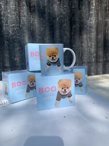 Boo The Worlds Cutest Dog / Pomeranian Puppy China Mug X4 - New Free PP !