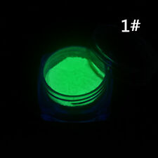 Neon Color Phosphorescent FLUORESCENT Acrylic Powder Glow In Dark Nail Art Tips