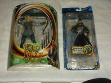 TOY BIZ LORD OF THE RINGS FELLOWSHIP LEGOLAS & RETURN OF THE KING ARAGORN MISP