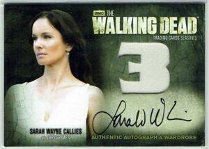 Walking Dead Season 3 Part 1 Auto Wardrobe AM7 Sarah Wayne Callies Lori Grimes