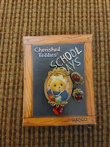 CHERISHED TEDDIES School Days Lapel Pin & Earrings Set #477060 NEW (M)