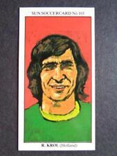 The Sun Soccercards 1978-79 - Ruud Krol - Holland #103
