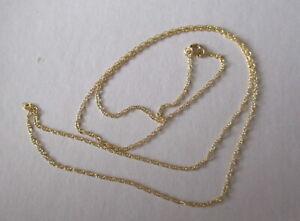 Collier, Kette, Doppelanker, sehr fein, ca. 1 mm, Gold 585,  Länge ca. 45 cm