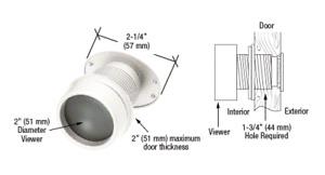 Giant Lens Door Viewer - Defender Security - White