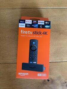 Amazon Fire Stick 4K - 3rd Generation Alexa Voice Remote - UK Plug - 2021 model