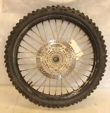 2003 YAMAHA YZ250F   FRONT WHEEL WITH DISC, (GOOD BEARINGS,WORN TIRE,SEE PHOTOS