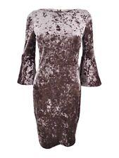 Calvin Klein Women's Plus Size Velvet Bell-Sleeve Dress