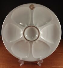 "CGT Limoges France 10"" Luxury Ocean Liners 7 Section Oyster Plate"