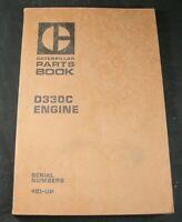 Caterpillar D330C Diesel Engine Parts Manual Book Catalog S/N 4B1 Up OEM CAT