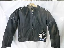 EXL WOMENS MOTOR CYCLE JACKET SMALL WATERPROOF REFLECTIVE ZIP OUT LINING