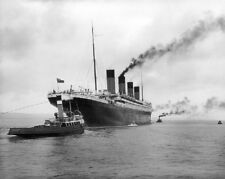 "Picture of the RMS Titanic leaving Belfast 8""x 10"" Photo 74"