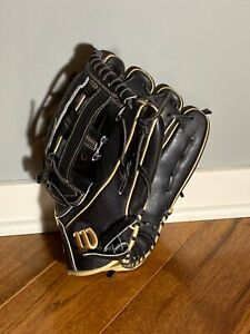 Wilson A2000 12.75 inch Baseball Glove - Black Outfield Pro Stock 1799