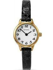 Sekonda classic  Ladies Watch 4473 gold plated Black strap RRP £29.99