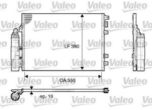 1 Kondensator, Klimaanlage VALEO 817661 passend für RENAULT