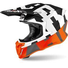 AIROH CASQUE TWIST 2.0 FRAME MOTO CROSS ENDURO MX TT ORANGE NOIR BLANC