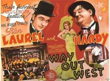 LAUREL & HARDY WAY OUT WEST VINTAGE MOVIE POSTER METAL PLAQUE: HOME DECOR GIFT