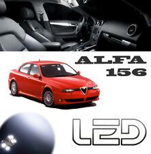 ALFA Romeo 156 Kit 6 Ampoules Led Blanc Habitacle Plafonnier Boite  gants Coffre