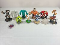 Disney Infinity Character Lot Incredibles Sully Mike Woody Barbossa Crystal Disc
