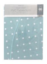 "Spot/Polka Dot Round/Circular pvc/wipeable tablecloth 150cms (59"") Diameter"