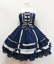 Cosplay Sweet Love Lolita Princess JSK Dress  (DEEP BLUE) XXL or CUSTOM-MADE