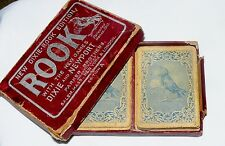 Antique Parker Bros Rook Paper Playing Cards Game in Box 1910 Patent 1917 Date