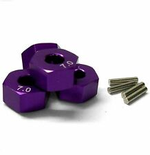 57817P 1/10 Scale RC M12 12mm Alloy Wheel Adaptors With Pins Nut Purple 7mm