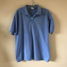 La Coste Sky Blue Polo Shirt Short Sleeve Sz 5 Medium Made in France 100% Cotton