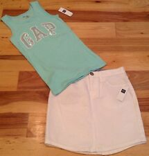 Gap Kids Girls Size 5 Outfit. Gap Sequins Tank Top & White Denim Skirt. Nwt