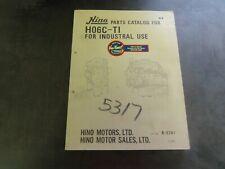 Hino H06C-T1 Parts Catalog Manual Book    B-5741