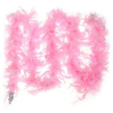 2M Feather Boa Strip Fluffy Craft Costume Fancy Dress Wedding Party Decor White