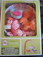 Circo Baby Pink Nursery Decor Crib Musical Mobile New Fox animals cute OWL fun