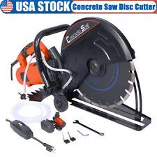 Electric 14 Circular Concrete Cut Off Saw Cutter Wet Dry Masonry Brick 4300rpm