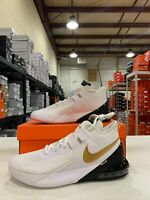 Nike Air Max Impact Basketball Shoes White Gold Black CZ8771-100 Men's NEW