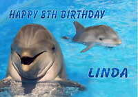 Personalised Dolphin Birthday Card