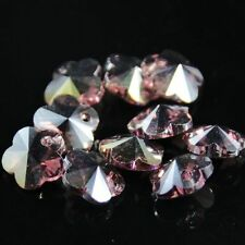 12pcs Swaro/vski 8mm plum blossom shape Crystal beads G Purple