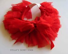 New Dog pet cat clothes Skirt Tutu Red Tulle Sm dress (4 Sm Breeds) Small