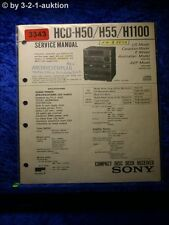 Sony Service Manual HCD H50 / H55 / H1100 Component System (#3343)