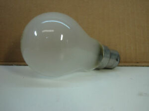 Lot of 4 New Philips 75W 230-Volt BA22d Light Bulbs lamp 230V A60 B22 Frost