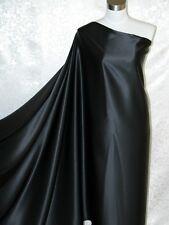 100% Silk Charmeuse Fabric Absolute Black Per Yard
