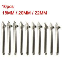 10pcs Quick Release Spring Bars Stainless Steel Watch Band Strap Pin Bar 18~22mm