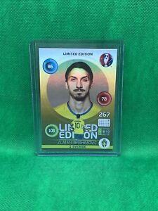 2016 Panini Adrenalyn Euro Zlatan Ibrahimovic Rare Limited Ed. Refractor card
