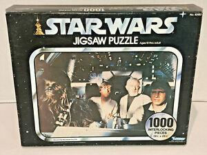 Star Wars 1977 Kenner 1000 Piece Puzzle NOS Sealed Luke Han Chewie Kenobi