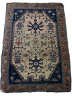 "Antique Handmade Ethnic Native Tribal Oriental Pictorial Carpet Rug 46""x34"""