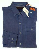 NWT Tommy Bahama Long Sleeve Blue Check Shirt Mens XLT 2XB 2XT 3XB Button NEW