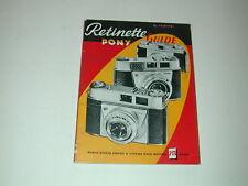 .livre GUIDE RETINETTE PONY KODAK 112 pages en français  photo photographie