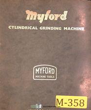Myford Mg12, Cyhlindrical Grinding Owner's Manual Year (1965)