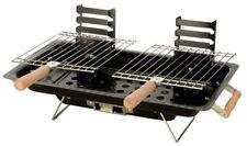 Bbq barbecue da tavolo 43x25 cm a carbone portatile griglia x giardino campeggio