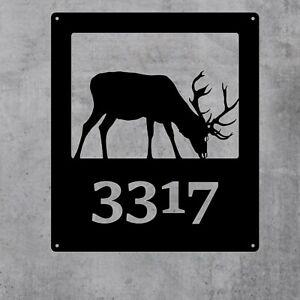 Large Custom Metal Address Sign! FREE SHIPPING! Deer Address Sign- Lake Cabin