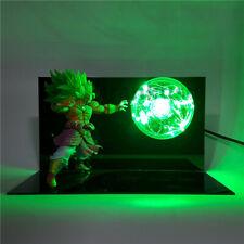 Dragon Ball Z Broly Super Saiyan Action Figure Kamehameha Led Table Lamp